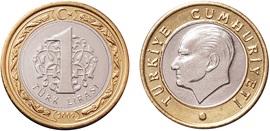 Turk lirasi 1 2009 цена года чеканки советских монет