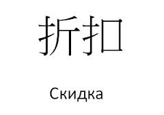 Китайские иероглифы для туристов