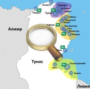 карта острова джерба тунис на русском языке