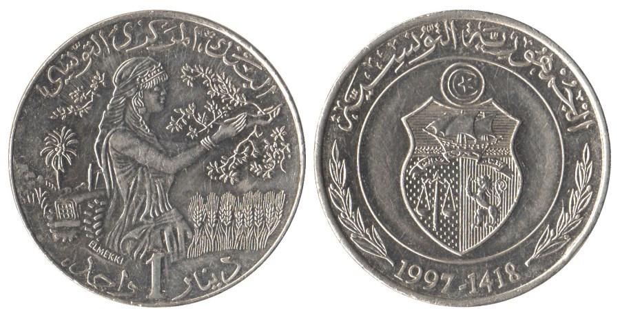 Копейка туниса один рубль 2006 года стоимость