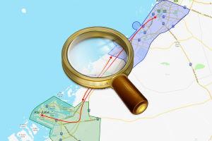 Карта с расстояниями