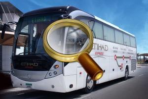 Фирменный автобус авиакомпании Etihad Airways